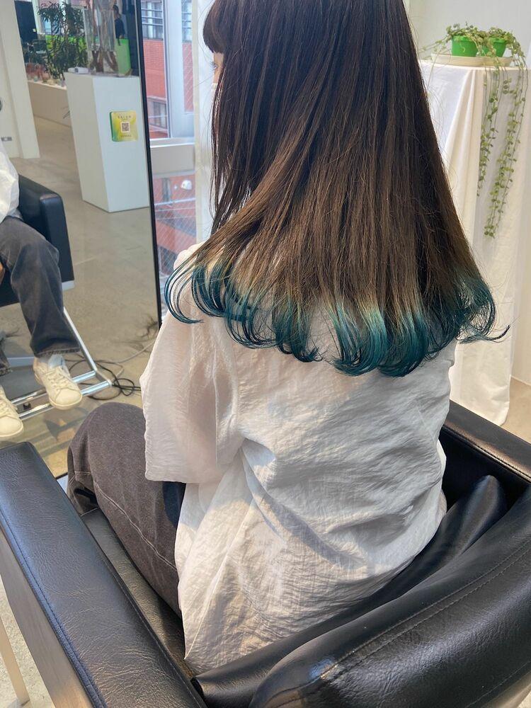 裾グリーンカラー