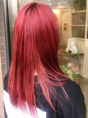 成人式にも❤︎派手カラーな赤髪!