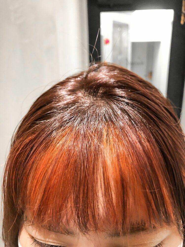 インナーカラー×オレンジ