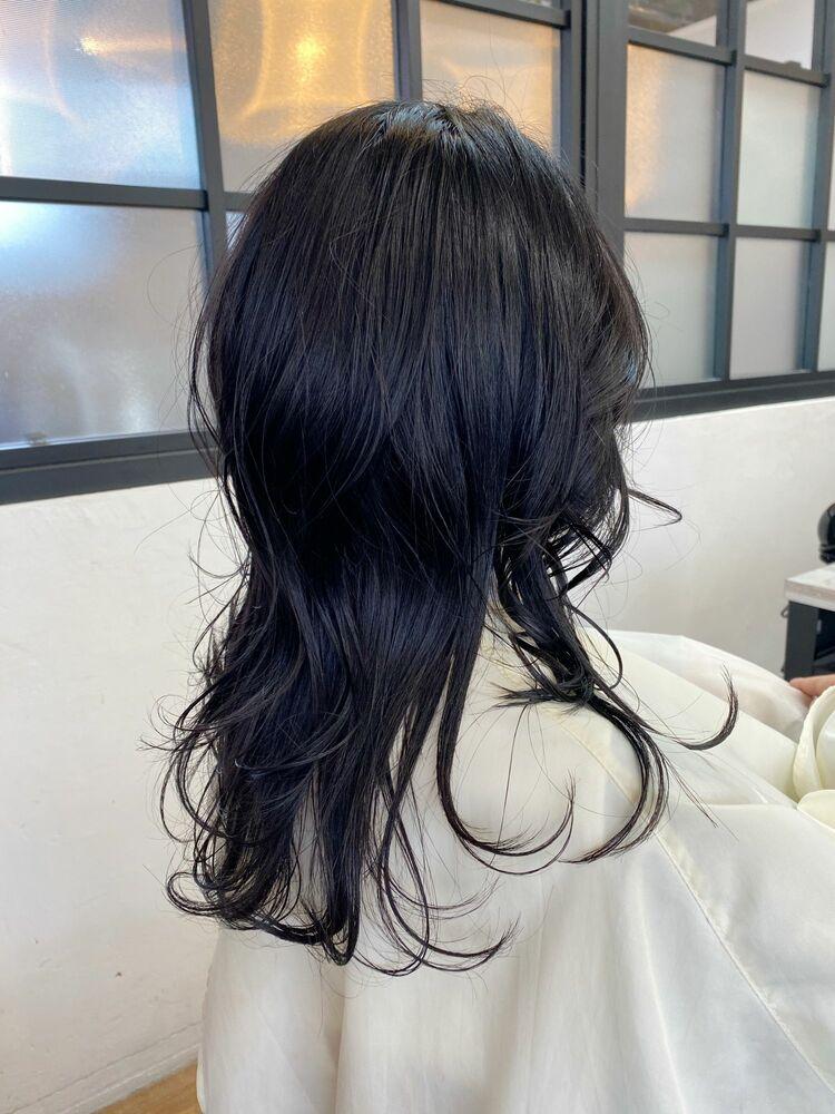 黒髪×ロングウルフ☆