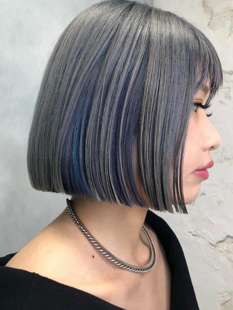 ブルーとパープルのインナーカラー