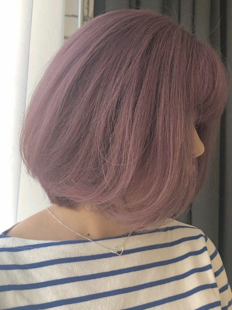 ボブのピンクヘア
