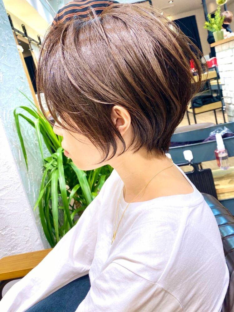 大人かわいい小顔ショートボブショートヘア20代30代40代銀座