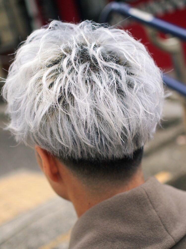 ホワイトカラー、フェード、短髪、ベリーショート、ベリショ、スッキリヘア、束感ヘア
