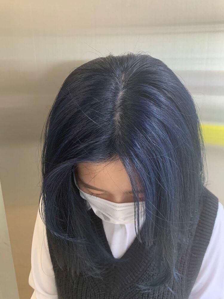 ネイビーブルーカラー 韓国カラー