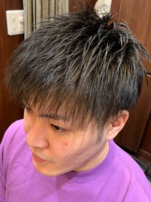 直毛束感スタイル