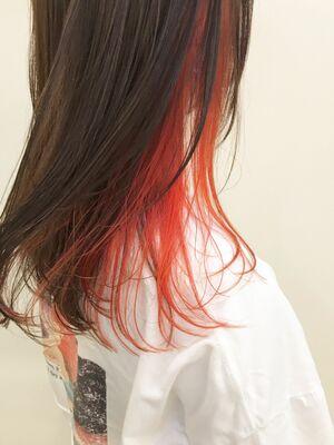 オレンジ×インナーカラー