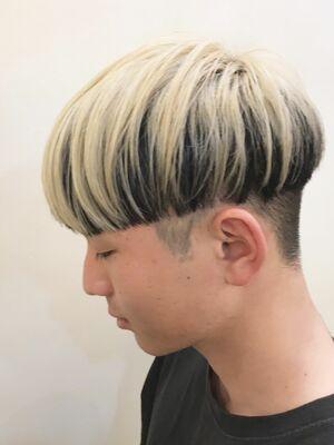 メンズヘア、ツートーンカラー