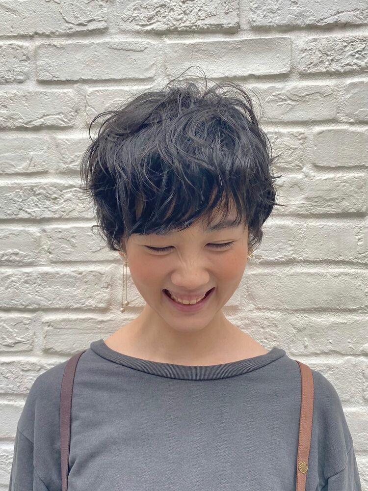 boy 原宿駅10分、明治神宮前駅10分 ボーイッシュな無造作感、だけどオトナ可愛いショートパーマ