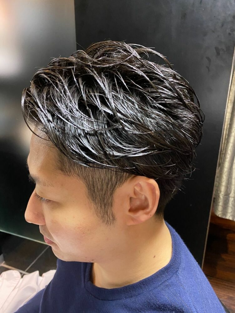 黒髪ビジネスツーブロック ヒロ銀座 理容室 神田
