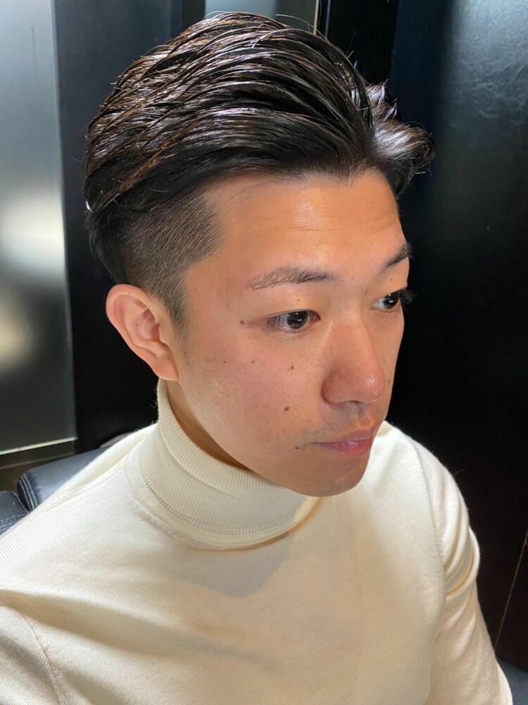 ツーブロックビジネスショート/ヒロ銀座/神田/理容室