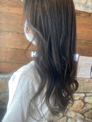 色落ちしやすい髪の毛も長持ち♪オリーブグレージュ◎