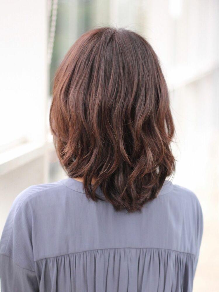大人の似合わせ菱形シルエットミディアムヘア