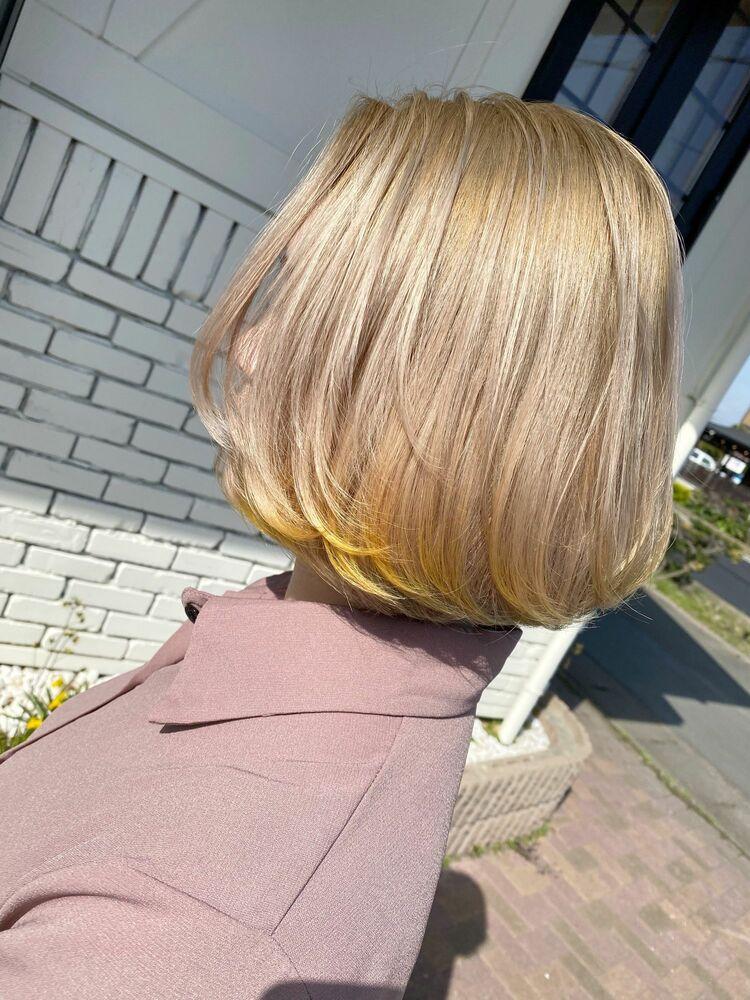 毛先color yellow