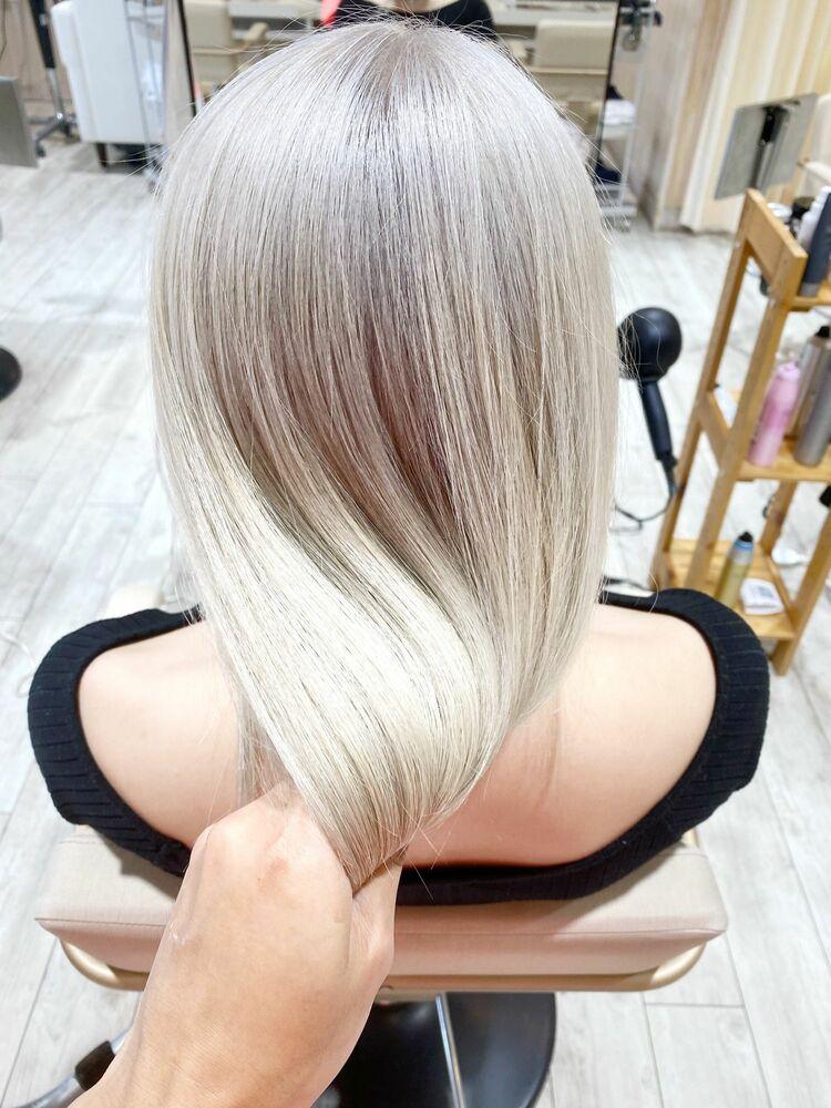 艶髪 ホワイト