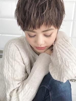 表参道 Lond 伊杏外国人風ベリーショート☆ミルクティーベージュ