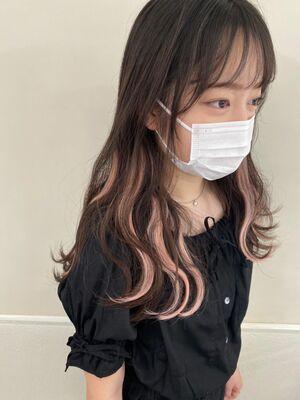 韓国アイドル風 インナーカラーエクステ♡♡