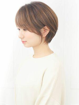 30代40代大人可愛い☆ハンサム小顔サイドブランジュショート
