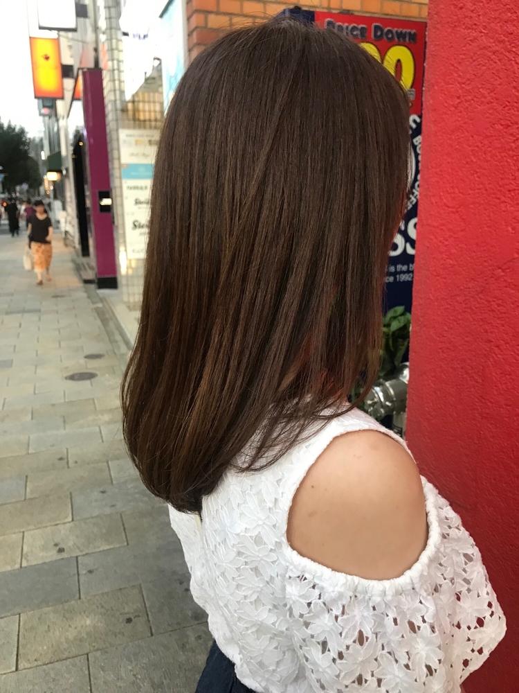 恵比寿 Lond  佐野 透明感のあるシンプルミディアムヘア