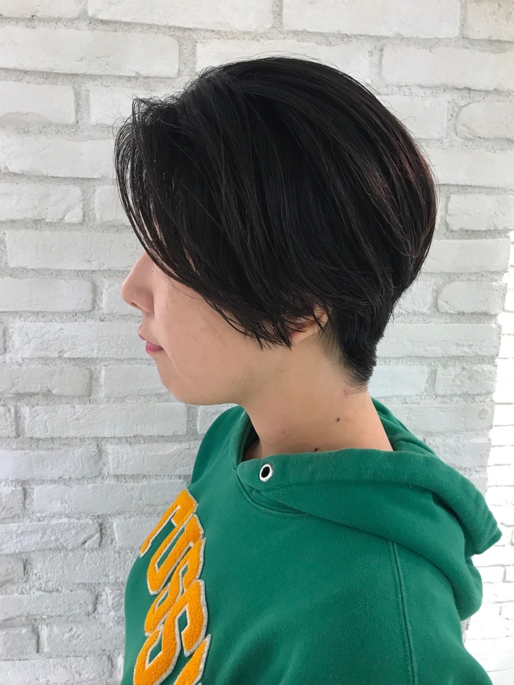 恵比寿 Lond 佐野 黒髪刈り上げショート20代、30代、40代にオススメ