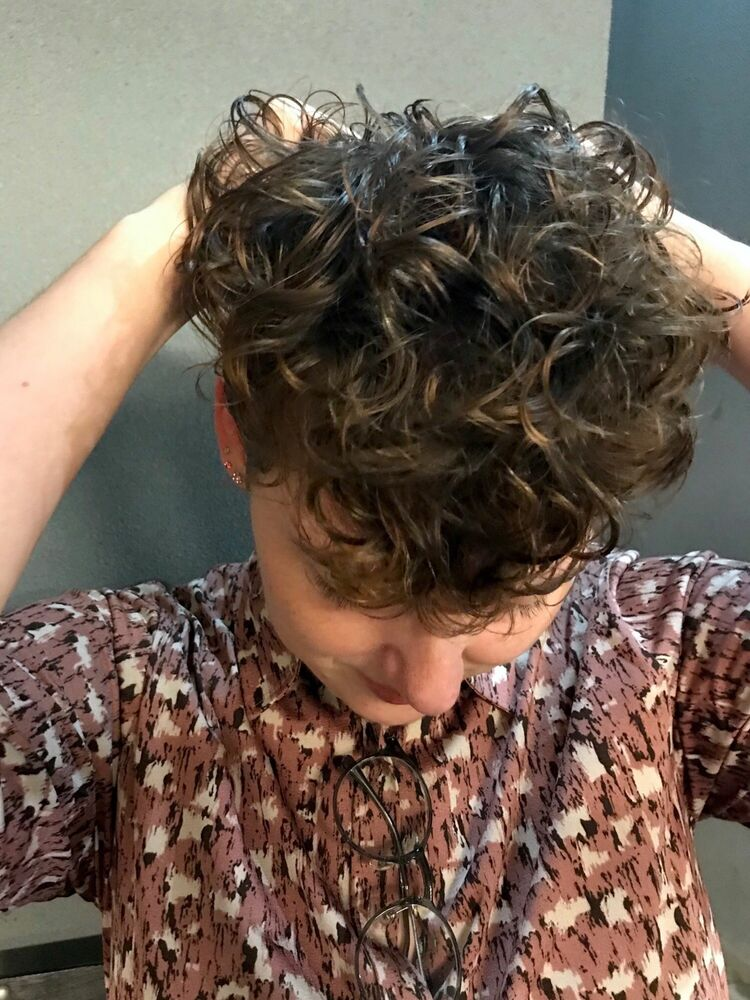 curly square short