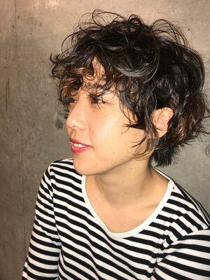 short perm hair