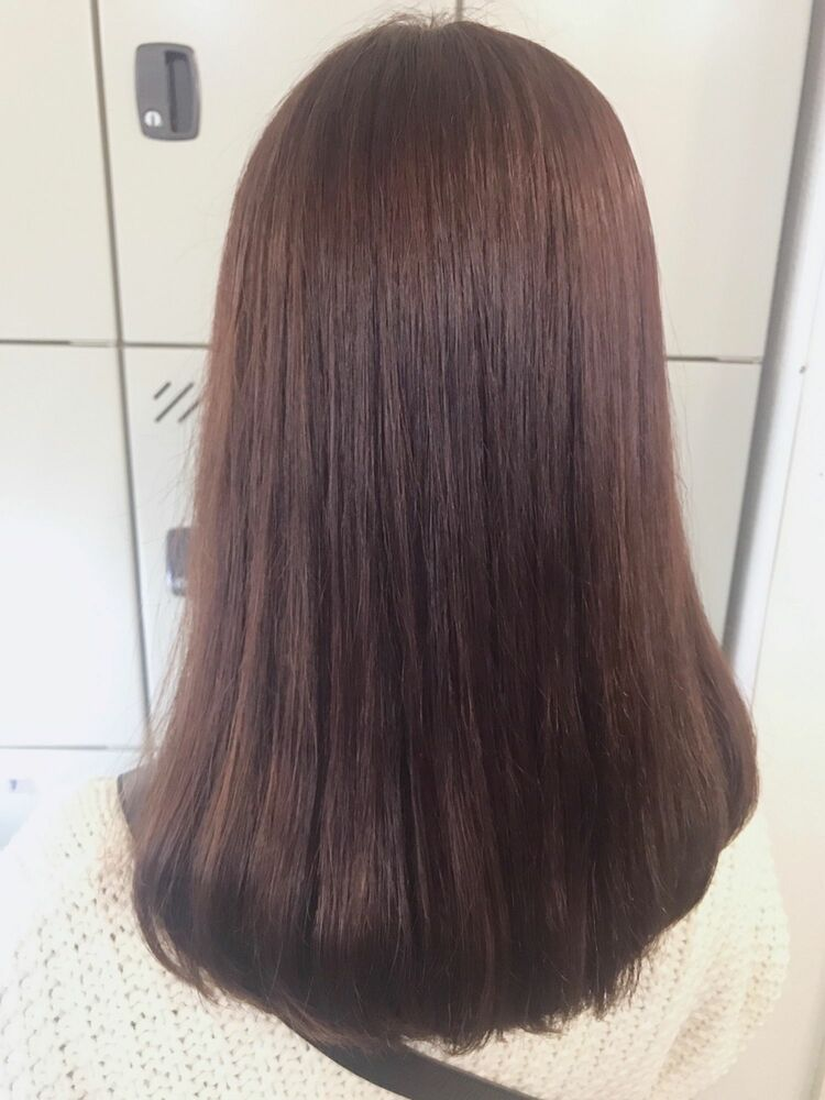 ショコラブラウン×ツヤ髪ストレート✨