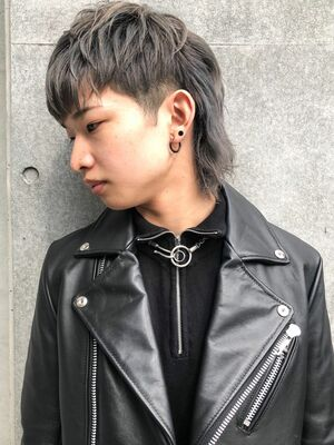 CANAAN表参道 シルバーカラー×マッシュウルフ