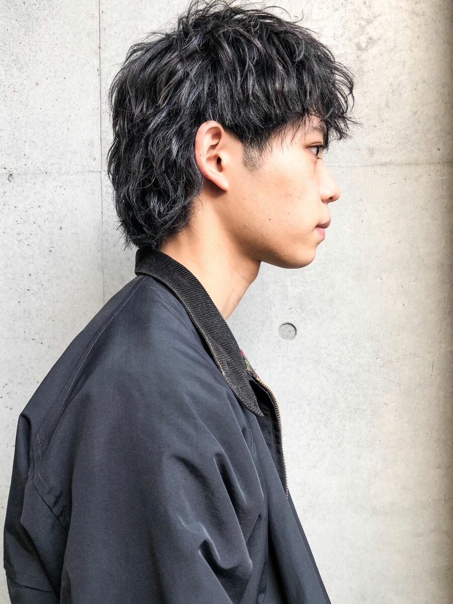 CANAAN表参道 マッシュウルフ×ナミパーマ