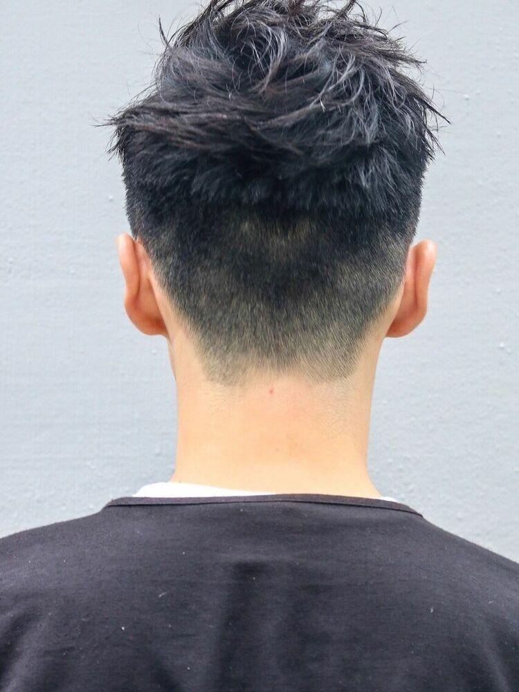 CANAAN表参道 ワイルドツーブロック×オールバック×黒髪