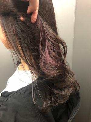 インナーカラー くすみピンク