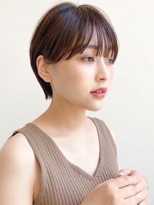ナチュラルショートボブ×低温デジタル毛先パーマ☆