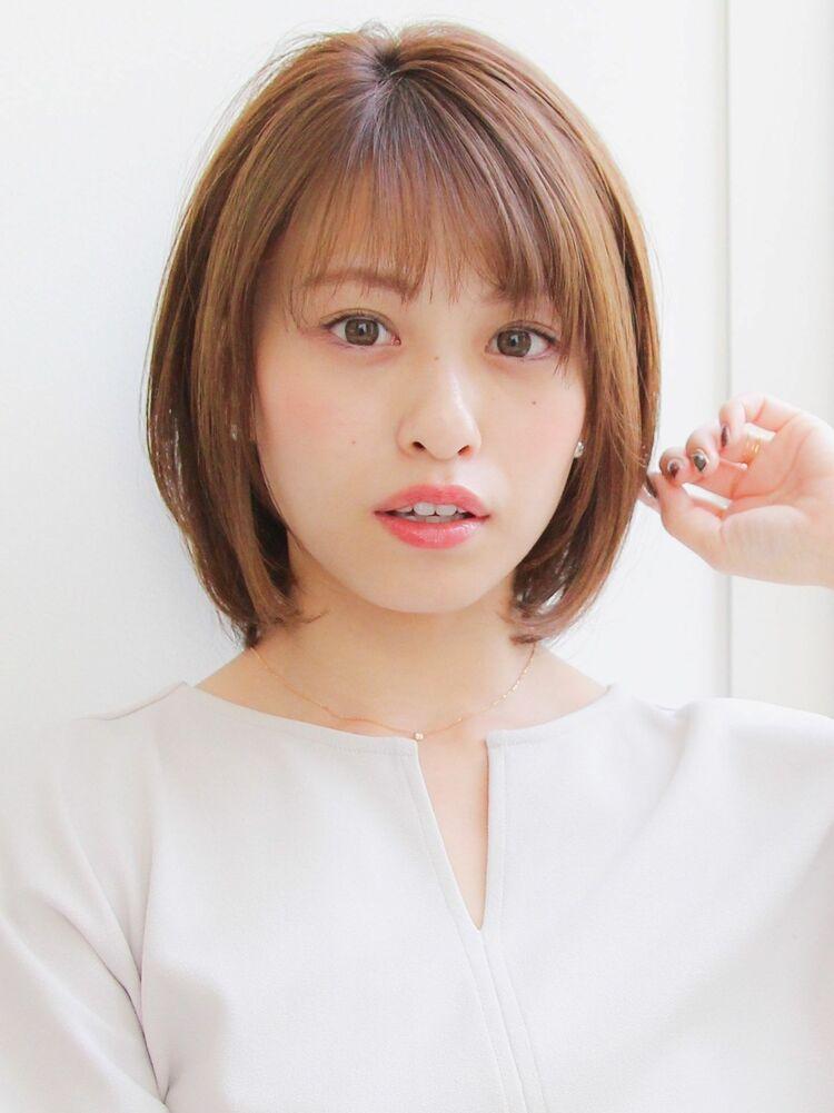 20代・30代★ナチュラルストレートボブ×透明感ヘア☆