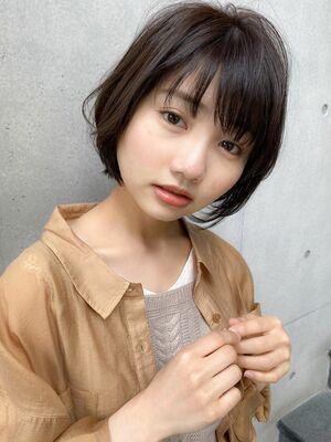 ふんわりショートボブ×ひし形シルエット☆
