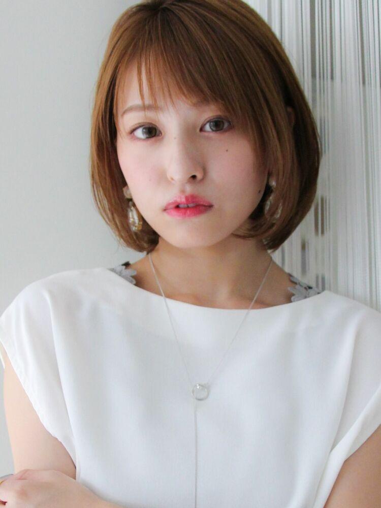 20代30代★ナチュラルボブ×透明感アッシュヘア☆