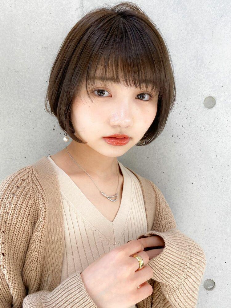 ふんわりショート×ひし形シルエット☆20代30代にも支持されているショートボブ♪