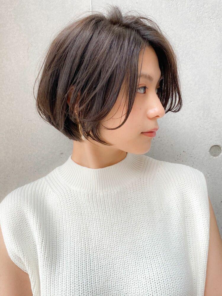 大人可愛いショートボブ×艶髪アッシュ☆