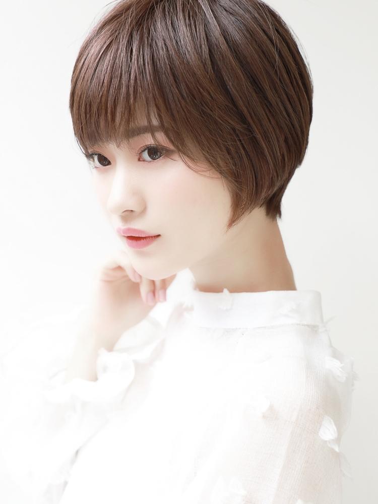 ナチュラルストレートショート♪大人女性に人気の綺麗目ヘア!!