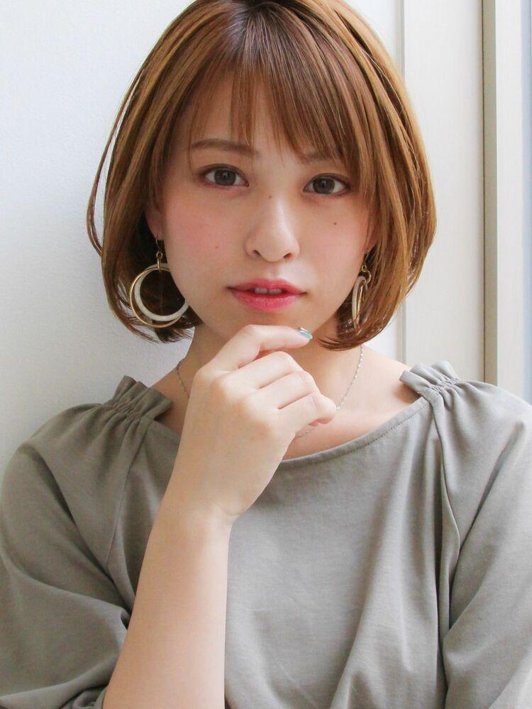 20代30代★ナチュラルショートボブ×透明感アッシュ☆