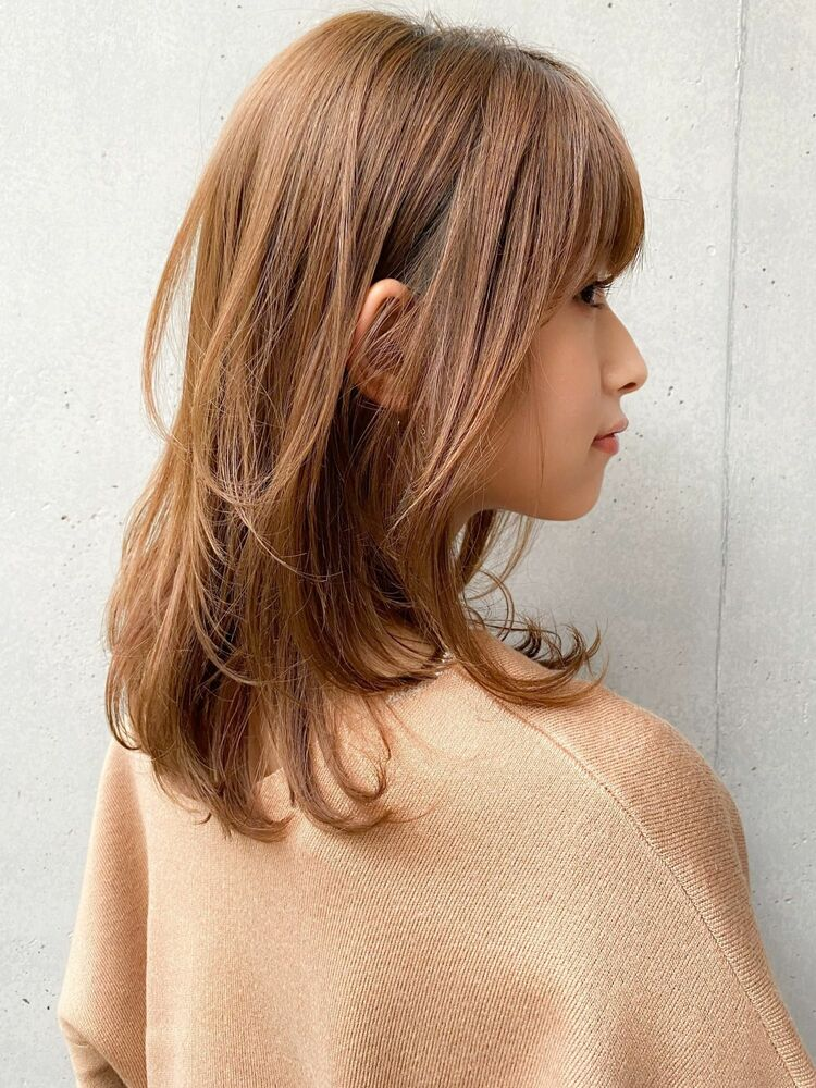 20代30代☆低温デジタルパーマでかける毛先パーマがかわいいミディアムヘア♪