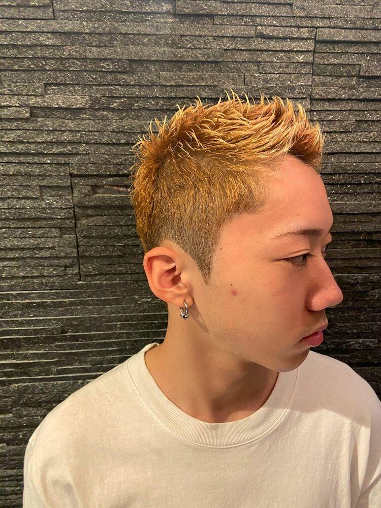 金髪×ショート