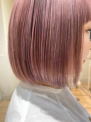 AFLOAT D'L 白川 かわいい髪色ピンクベージュ