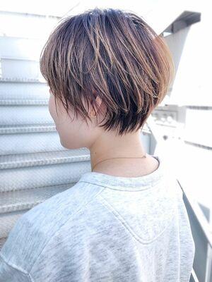 おしゃれ丸みショート_ba291001