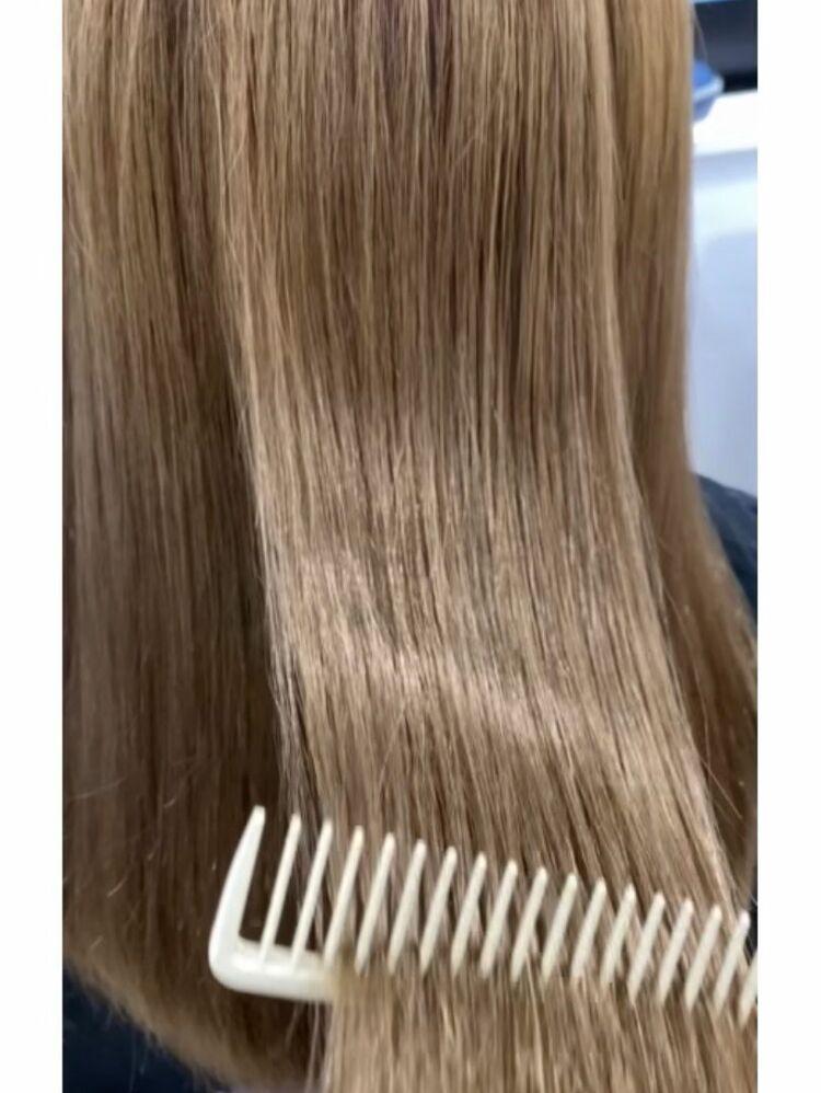 くすみベージュ✖︎髪質改善トリートメント