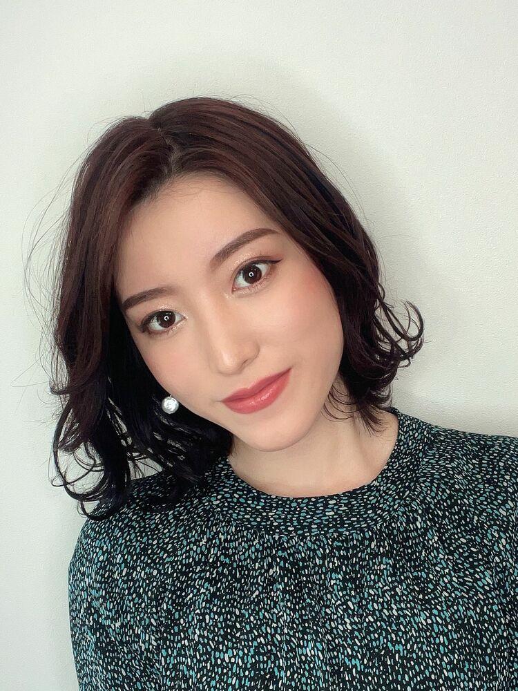 大人かわいい☆ミディアムボブ☆髪質改善