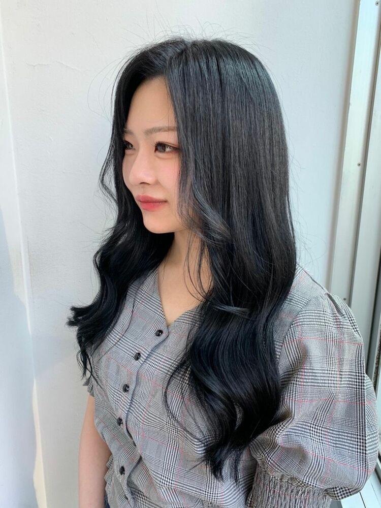 ブルーブラック/韓国巻き