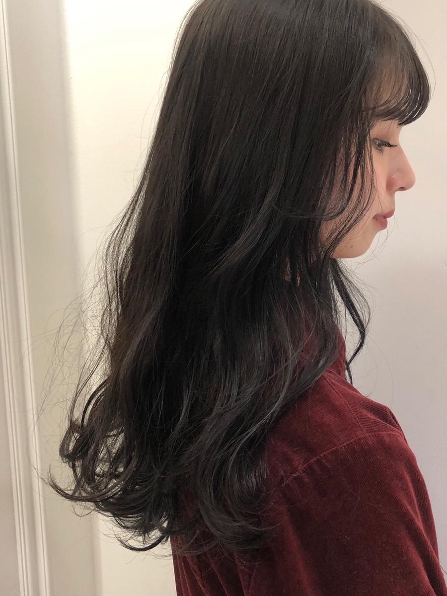 apish銀座/tomo 地毛風暗髪カラー