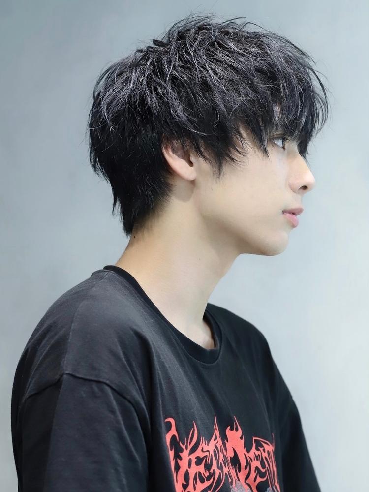 マット系×くしゃボサ髪