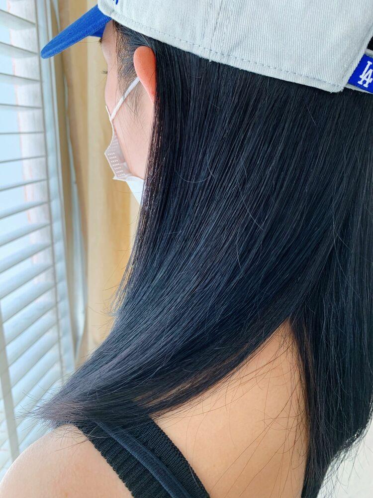 就活におすすめ!ブルーブラックヘア