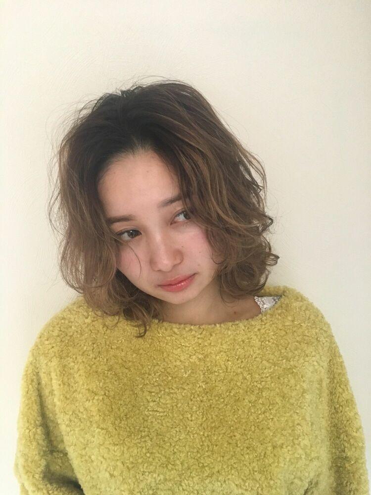 Lond avenir本田奈穂美/20.30.40.50代◎大人可愛いゆるふわミディ